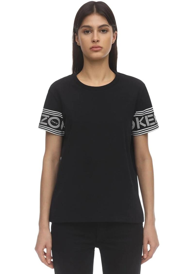 Kenzo Sleeve Logo Cotton Jersey T-shirt