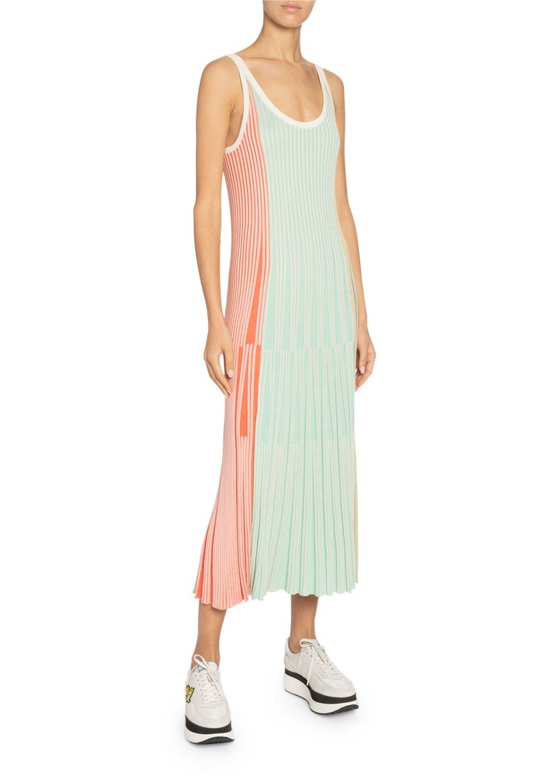Kenzo Sleeveless Stripe Knit Midi Dress