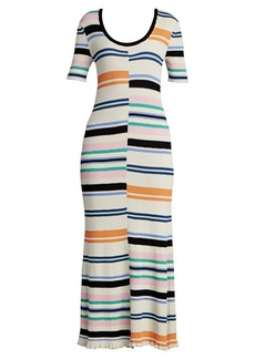Kenzo Striped Bodycon Maxi Dress
