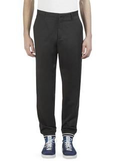 Kenzo Striped Cuff Cotton Jogger Pants