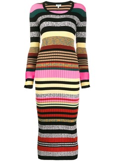 Kenzo striped knitted midi dress