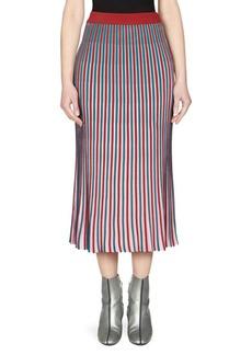 Kenzo Striped Midi Skirt