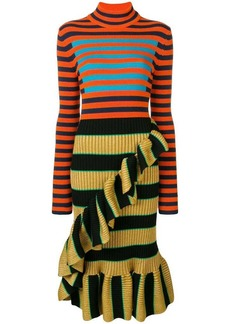 Kenzo striped mock neck dress