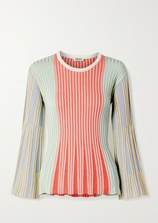 Kenzo Striped Ribbed-knit Top