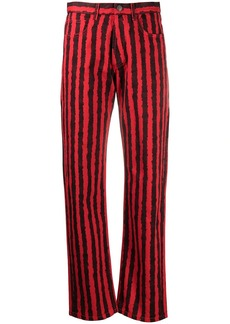 Kenzo striped straight leg jeans