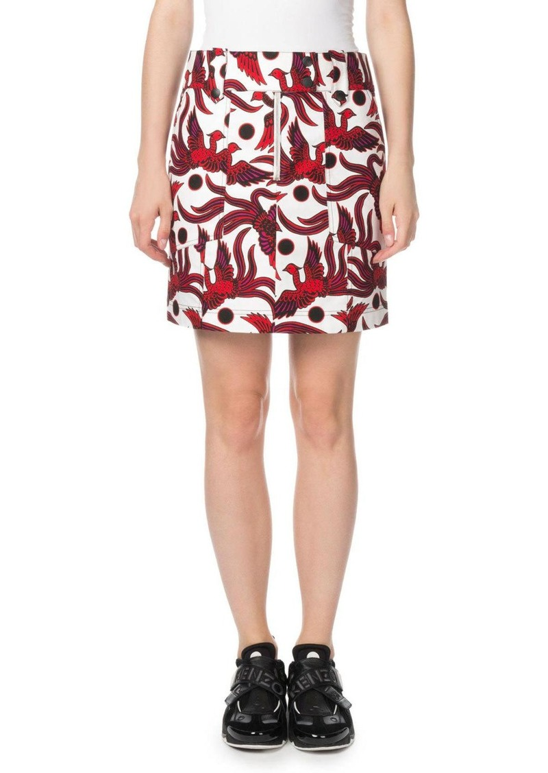 Kenzo Structured Phoenix-Print Mini Skirt