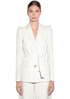 Kenzo Tailored Soft Linen Drill Jacket