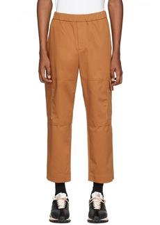Kenzo Tan Gabardine Cargo Pants