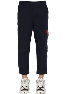 Kenzo Tapered Stretch Cotton Cargo Pants