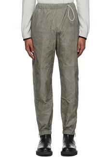 Kenzo Taupe Coated Taffeta Lounge Pants