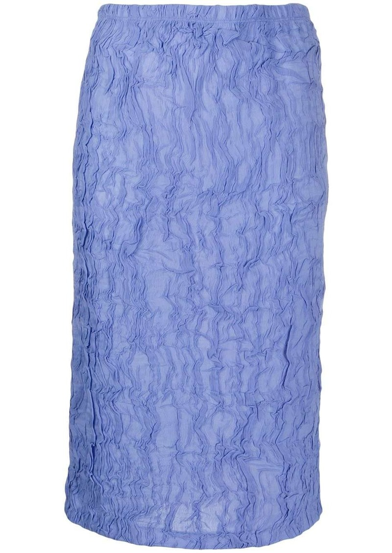 Kenzo textured pencil midi skirt
