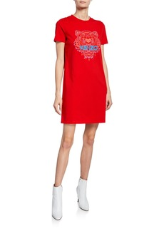 Kenzo Tiger & Logo T-shirt Dress