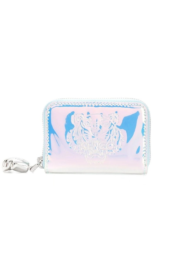 Kenzo Tiger-embossed holographic wallet