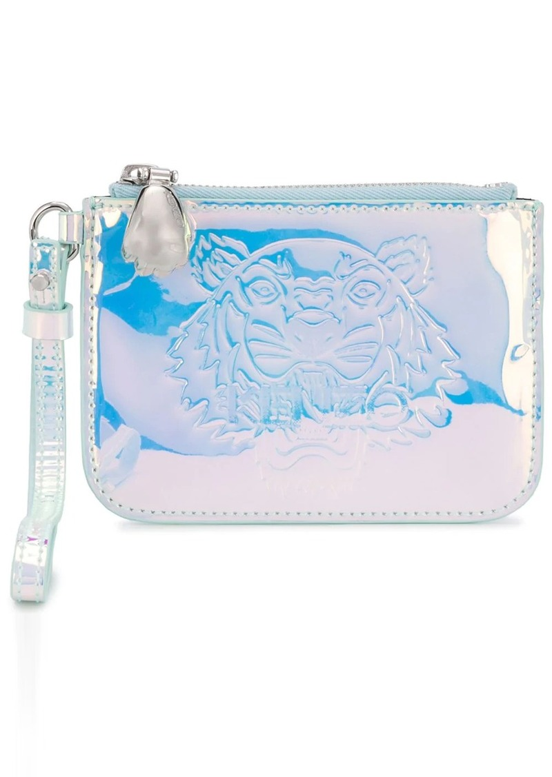 Kenzo Tiger embossed holographic wallet