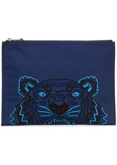 Kenzo tiger embroidered clutch bag