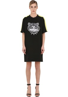 Kenzo Tiger Embroidered Crepe Mini Dress