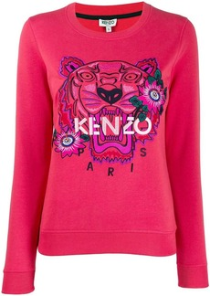 Kenzo Tiger embroidered floral sweatshirt