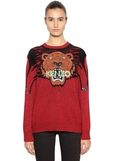 Kenzo Tiger Embroidered Intarsia Kint Sweater