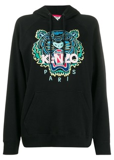 Kenzo Tiger embroidered logo hooded sweatshirt