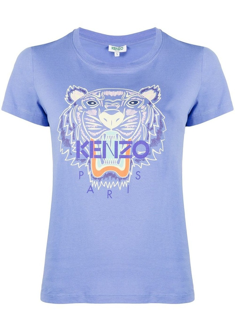 Kenzo Tiger-embroidered logo T-shirt
