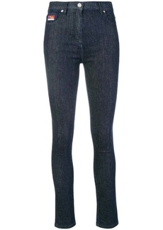 Kenzo tiger embroidered skinny jeans
