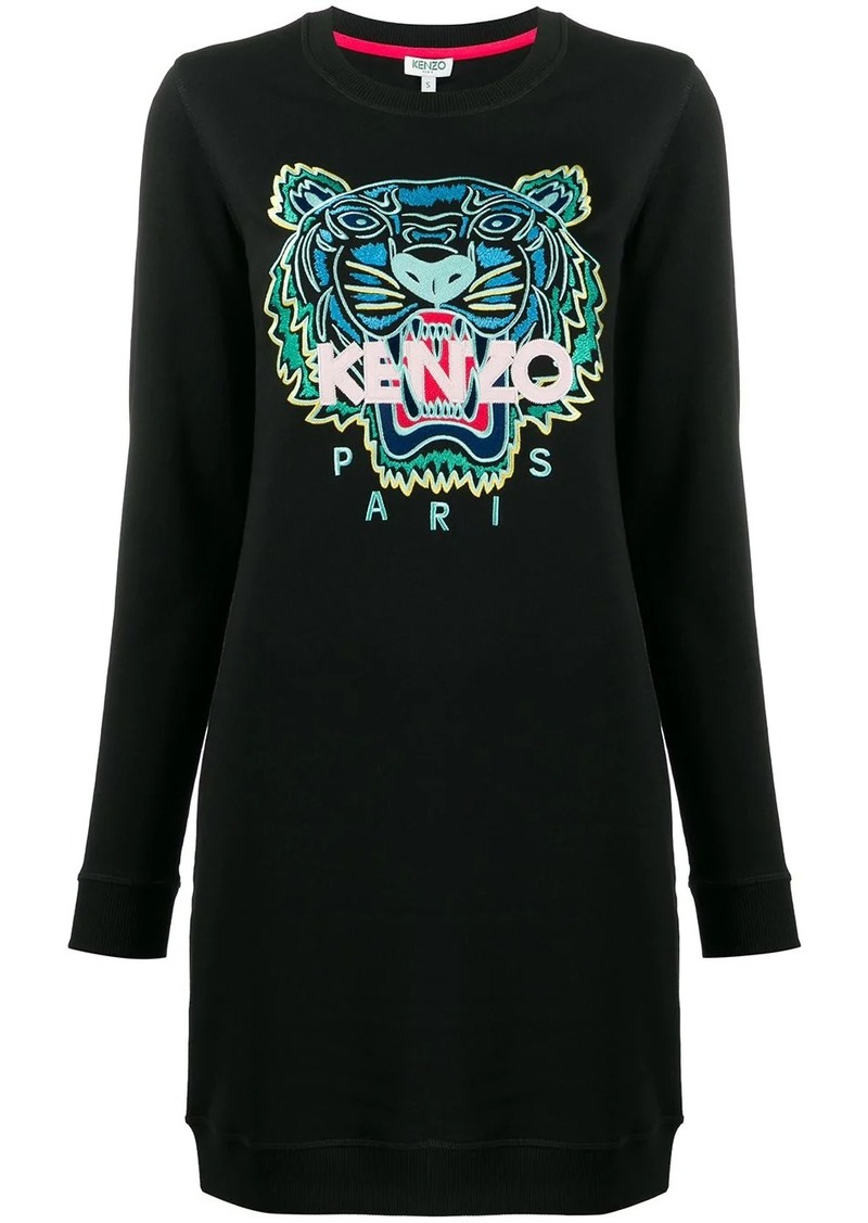 Kenzo tiger-embroidered sweatshirt dress