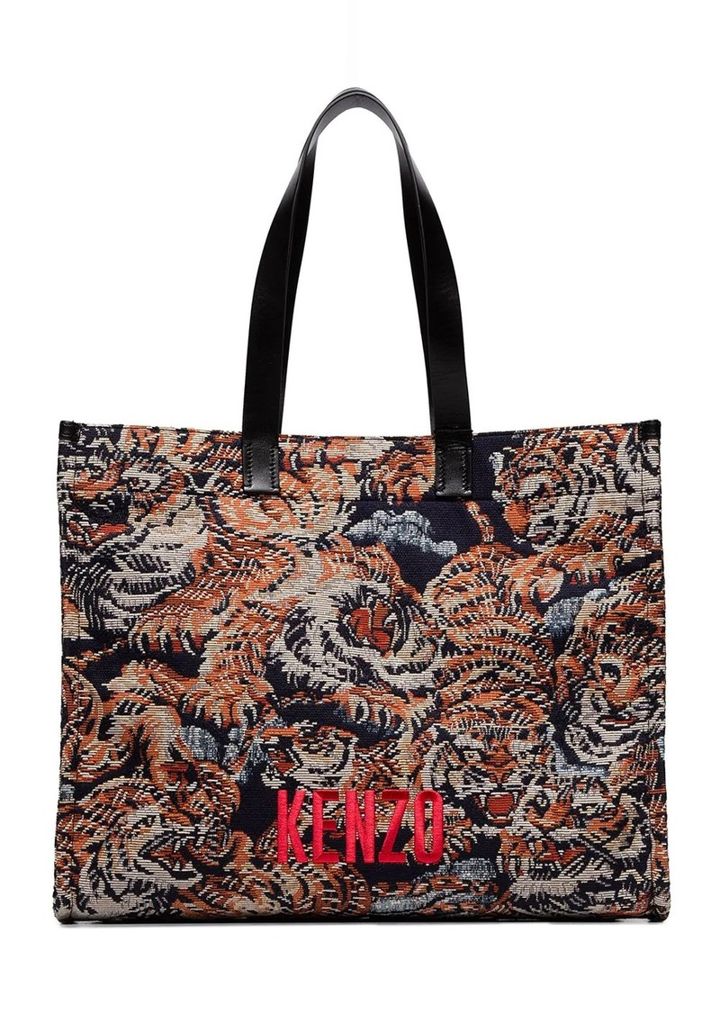 Kenzo Tiger embroidered tote bag
