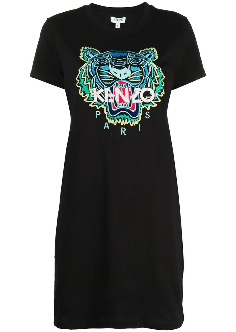 Kenzo Tiger embroidery T-shirt dress