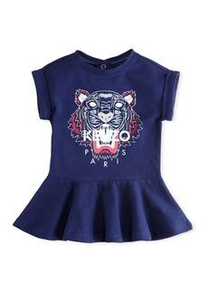 Kenzo Tiger Face Drop-Waist Dress  Navy  Size 2-3
