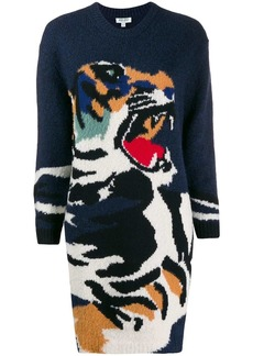 Kenzo Tiger Head knitted dress