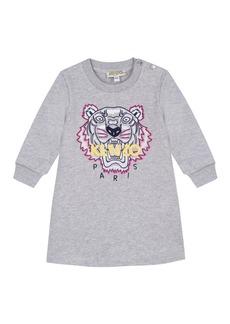 Kenzo Tiger Icon Fleece Long-Sleeve Dress  Size 2-4
