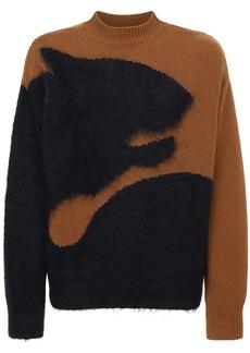 Kenzo Tiger Intarsia Brushed Sweater