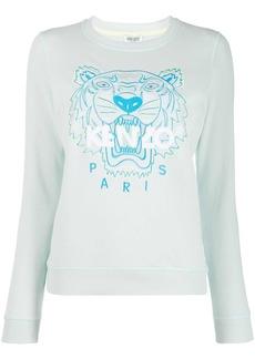 Kenzo tiger logo embroidered sweatshirt