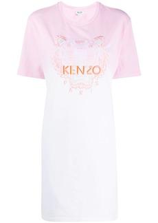 Kenzo Tiger logo embroidered T-shirt dress