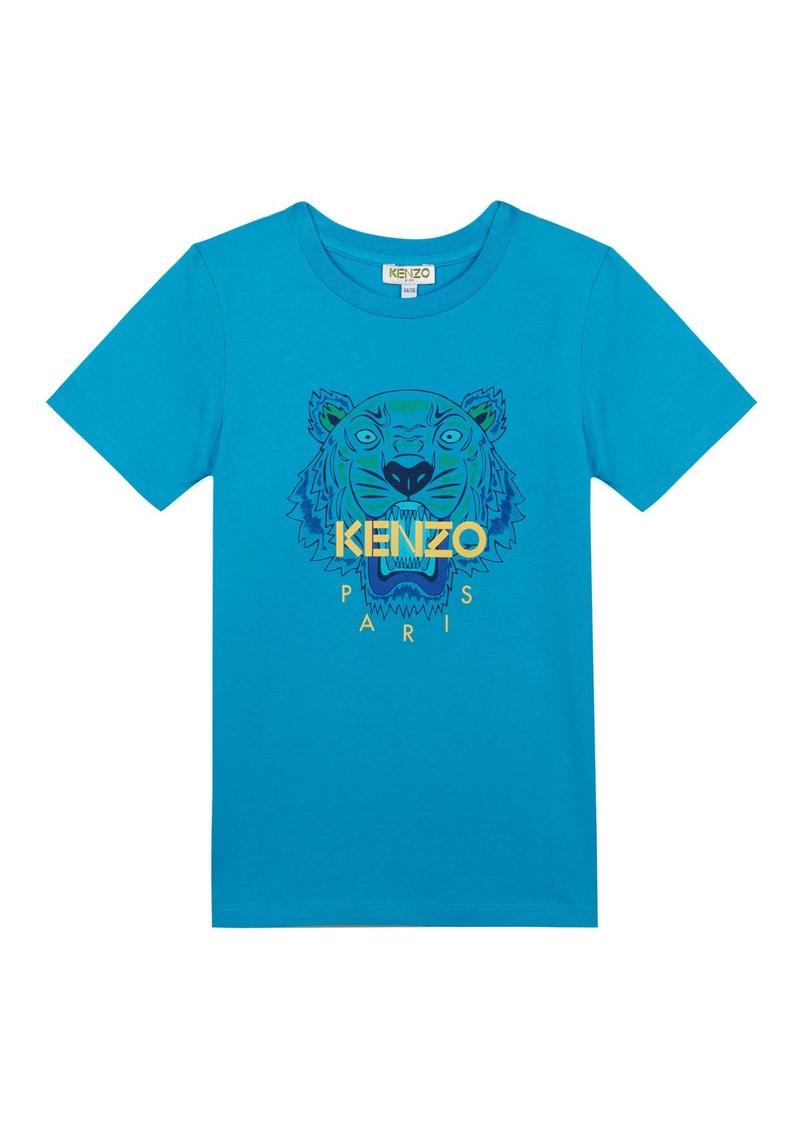 Kenzo Tiger Logo Printed T-Shirt  Size 5-6