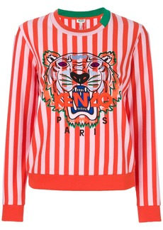 Kenzo tiger motif striped sweatshirt