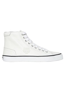 Kenzo Tiger Patch Leather High Top Sneakers