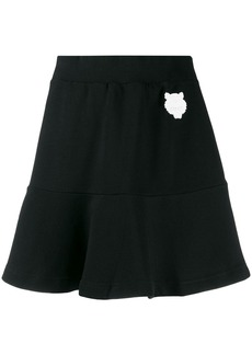 Kenzo Tiger patch skirt