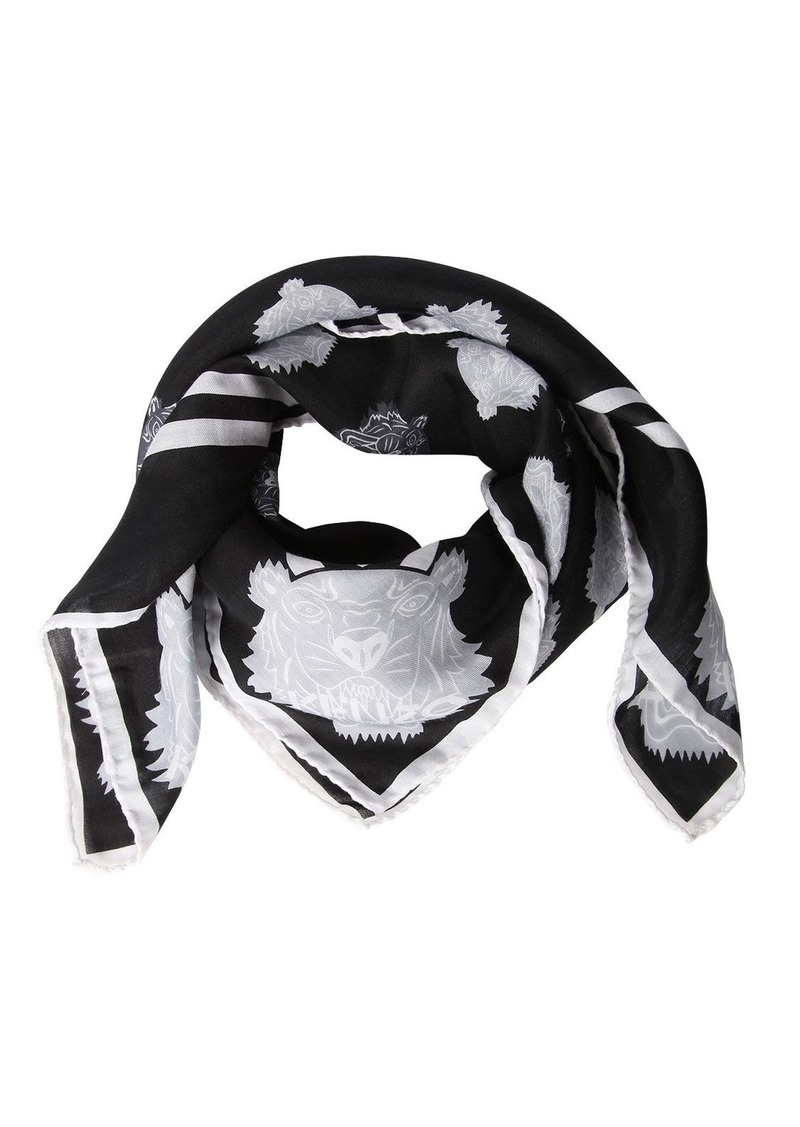 bab7ac0310 Tiger Print Cotton & Silk Square Scarf