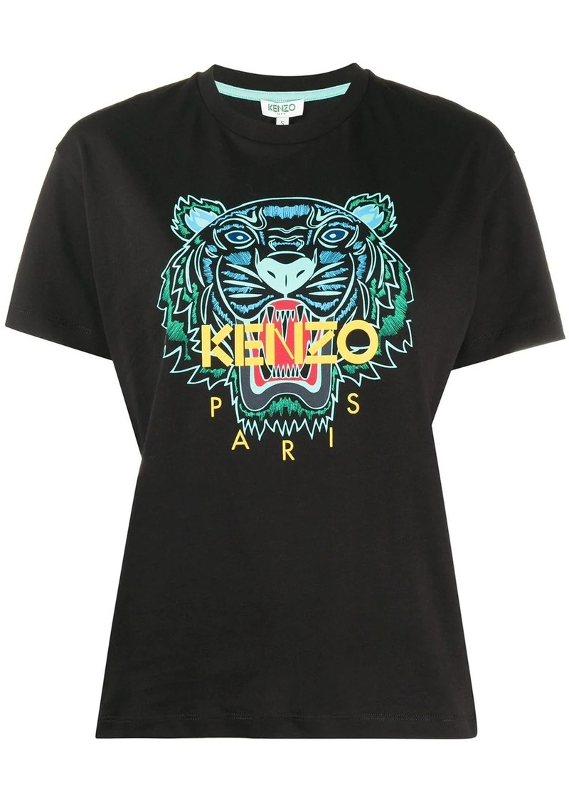 Kenzo tiger-print crew neck T-shirt