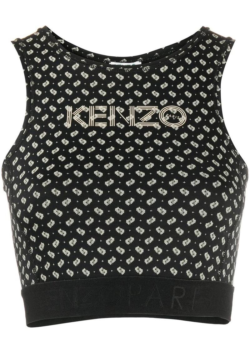 Kenzo tile-print cropped tank top