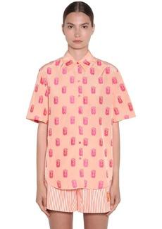 Kenzo Viscose Jacquard Shirt