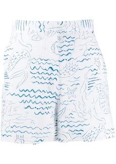 Kenzo Wave Mermaids short