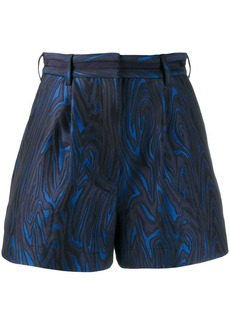 Kenzo wave patterned shorts