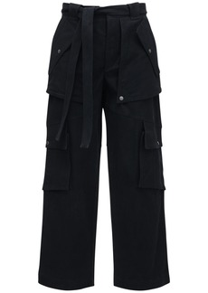 Kenzo Waxed Heavy Cotton Cargo Pants