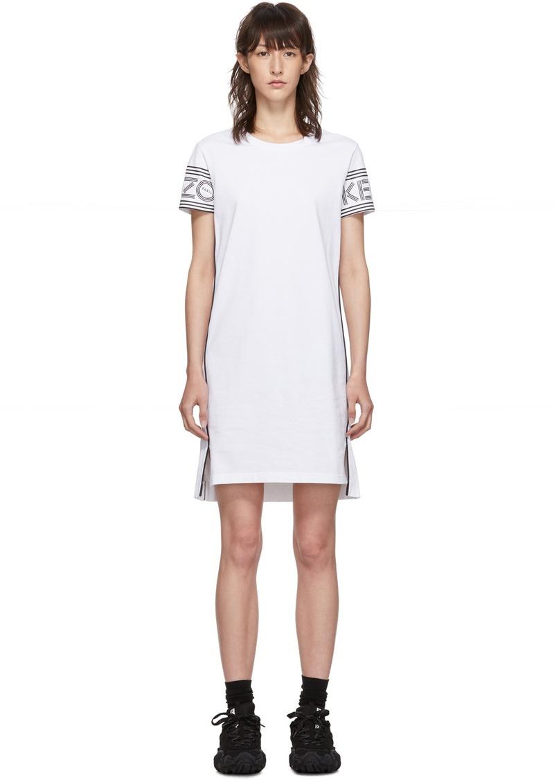 Kenzo White Short Logo Sport T-Shirt Dress