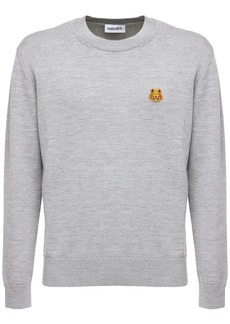 Kenzo Wool Crewneck Sweater W/ Tiger Patch