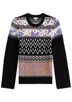 Kenzo Wool Pullover with Flower Embellishments