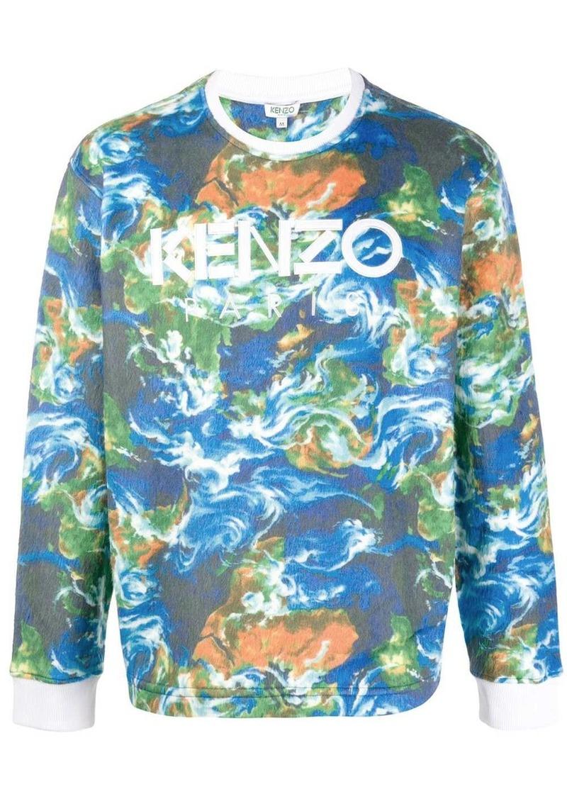 Kenzo World print sweatshirt