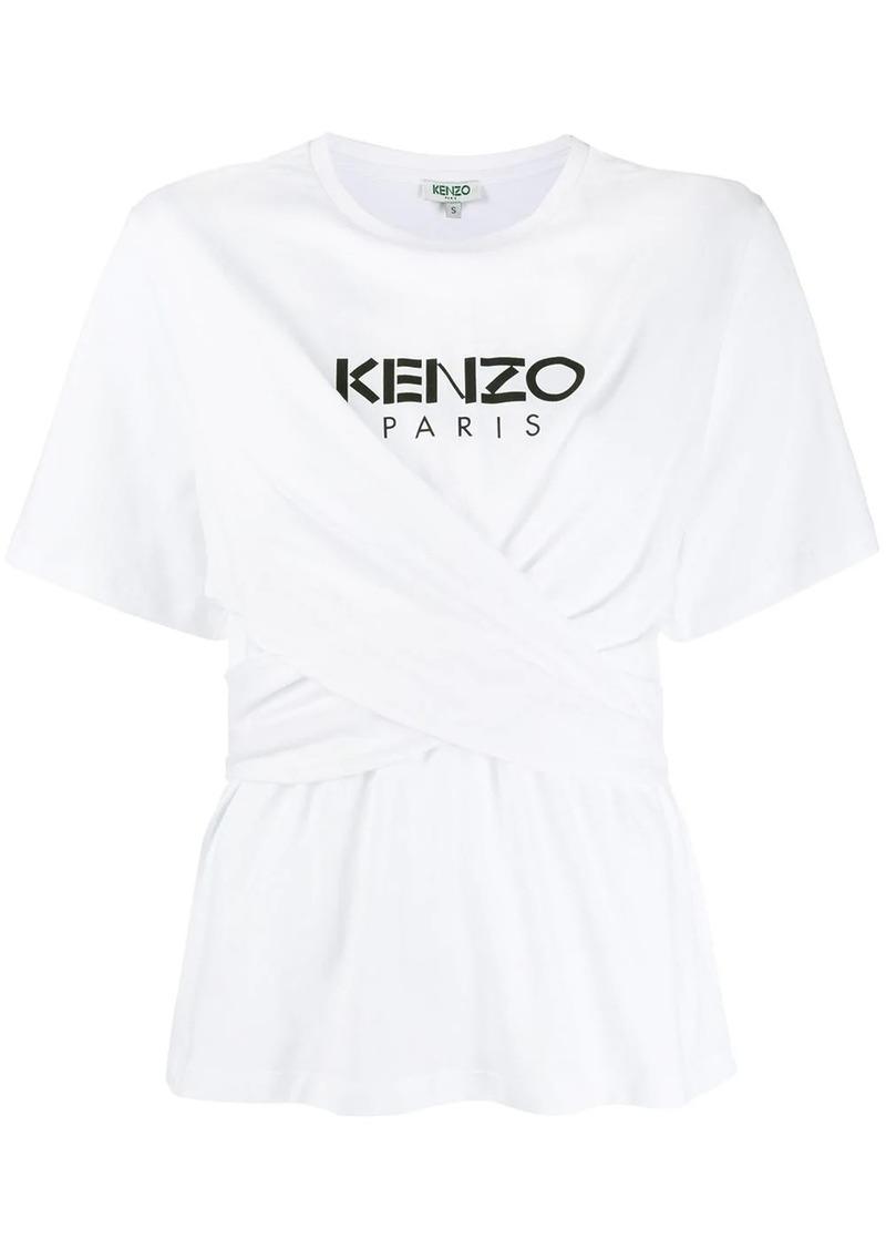 Kenzo wrap front logo T-shirt